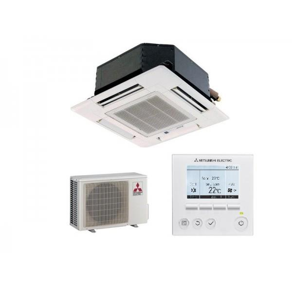 climatiseur mono split cassette mitsubishi slz m25fa suz ka25va6 inverter r410 puissance 3 2kw. Black Bedroom Furniture Sets. Home Design Ideas
