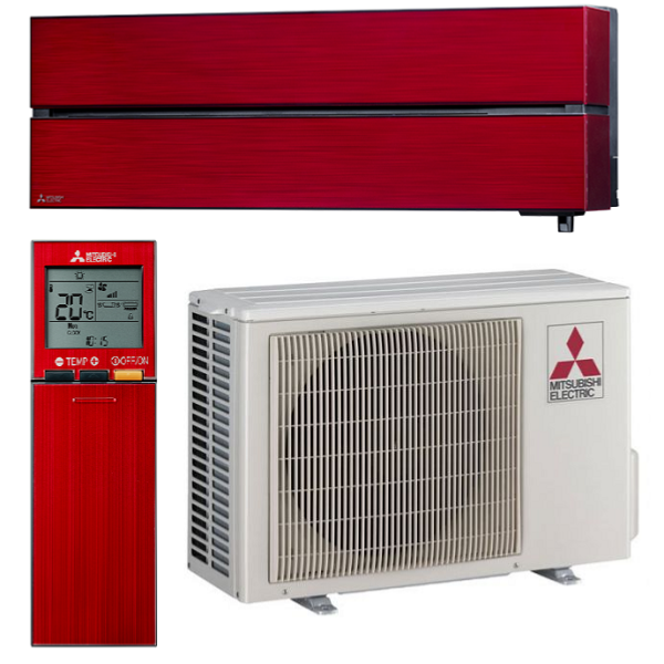 climatiseur mono split mitsubishi mural design de luxe rouge rubis msz ln25vgr hyper heating r32. Black Bedroom Furniture Sets. Home Design Ideas
