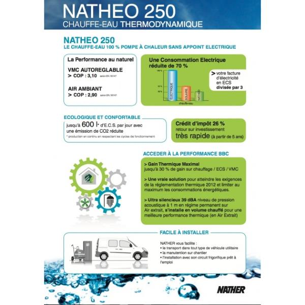 nather natheo ballon thermodynamique 250l