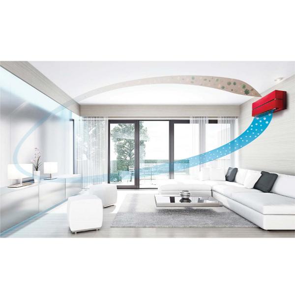 climatiseur mono split mitsubishi mural design de luxe msz. Black Bedroom Furniture Sets. Home Design Ideas