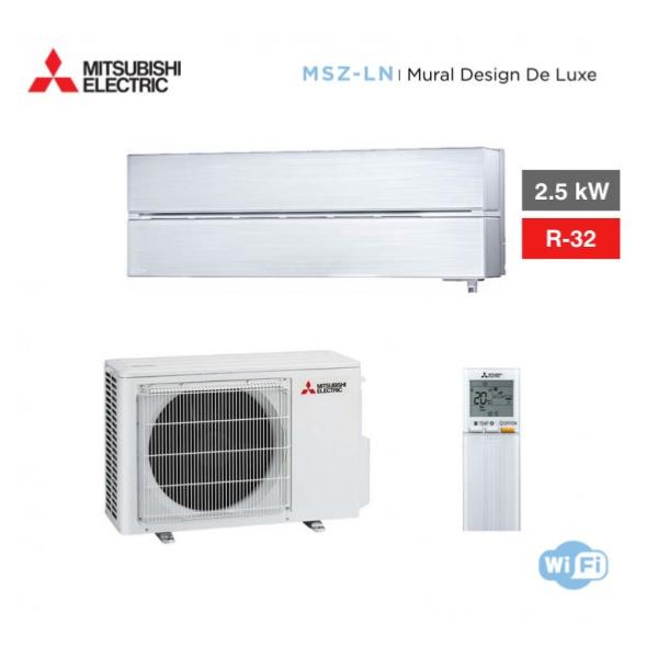 climatiseur mono split mitsubishi mural design de luxe msz ln25vgw hyper heating inverter r32. Black Bedroom Furniture Sets. Home Design Ideas
