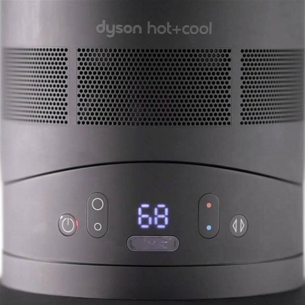 dyson hot cool am09 chauffage soufflant noir acier. Black Bedroom Furniture Sets. Home Design Ideas